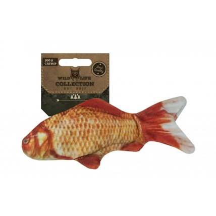 Kattleksak wildlife guldfisk13cm