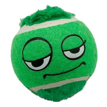 Hundleksak Tennisboll m mohikanfrisyr o ögon