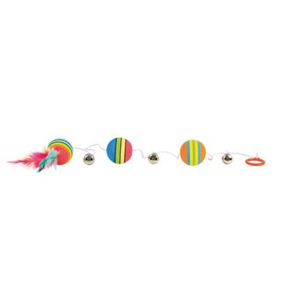 Kattleksaker Bollar med bjällror på rep