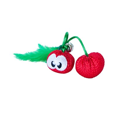 Kattleksak Petstages Dental Cherries Red