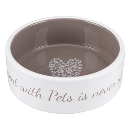 Matskål Pets Home cream/taupe