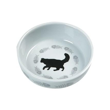 Keramikskål Katt med fiskben