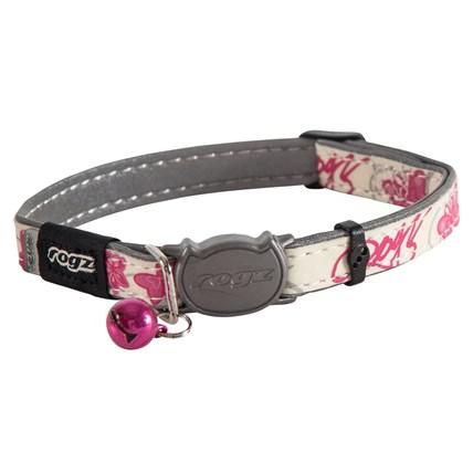 Katthalsband Rogz Glowcat Rosa Butterflies S