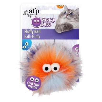 Kattleksak Furry Ball Orange 2803