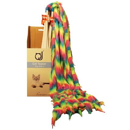 Spö multifärger 80cm lång plyschsvans