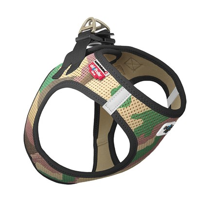 Curli Vest Harness Air Camo Grön, S