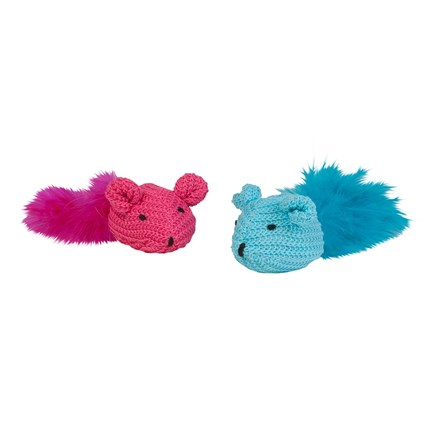Kattleksak Mice Of Wool, Rosa