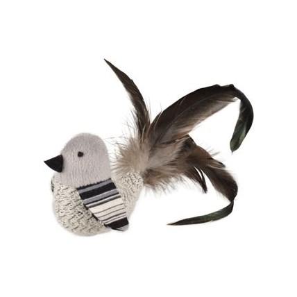 Kattleksak Frotefågel med fjädrar och skrammel