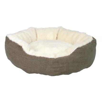Kattbädd Yuma brun/naturvit