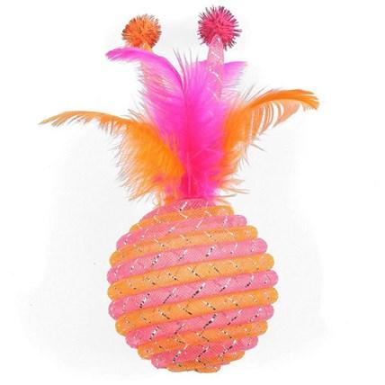 Kattleksak Jumbo Jazzle Sparkler Orange och Rosa
