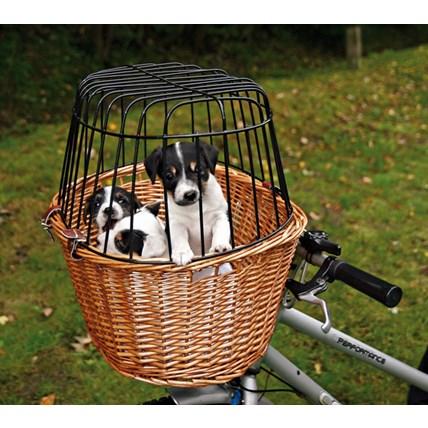 Cykelkorg i brun pil med gallertak