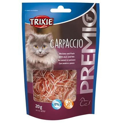Kattgodis Carpaccio med anka och fisk