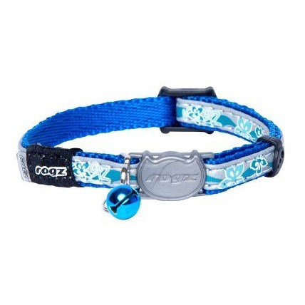 Katthalsband Rogz Nightcat blue floral XS