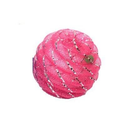 Kattleksak Glitterboll med liten kula Rosa