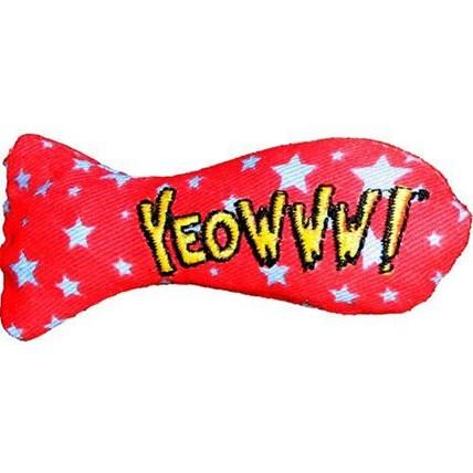 Kattleksak Yeowww Catnip Sardin Röd