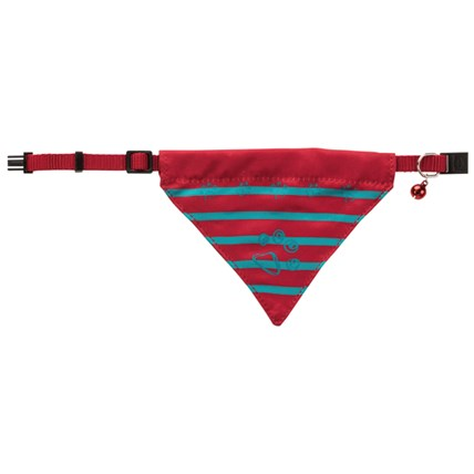 Katthalsband med scarf Röd