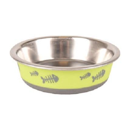 Matskål till katt Lime
