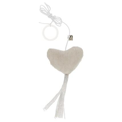 Kattleksak Hjärta med fransar och rep