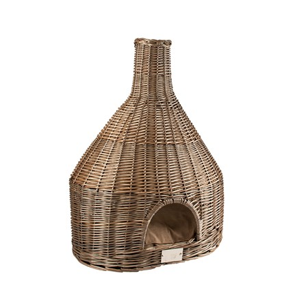 Provence Wicker Igloo & Cushion