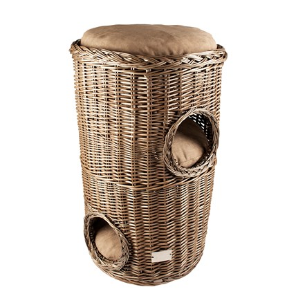 Provence Wicker Scratching Barrel & Cushion