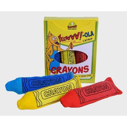 Kattleksaker YEOWWW Färgkritor 3-pack