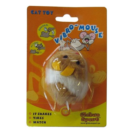Kattleksak Vibro-Mouse Brun