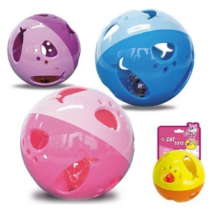 Kattleksaker Aktiveringsboll globus, Gul