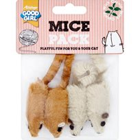 Kattleksaker Mice Pack 4pack