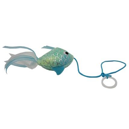 Kattleksak Guldfisk fiskfjällsmönstrad med sidenband Grön