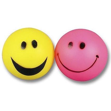 Hundleksak Vinylboll Smiley, Rosa