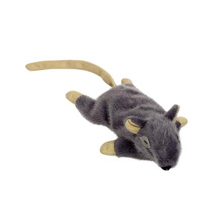 Kattleksak Grå Mus i plysch med catnip