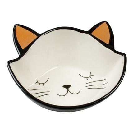 Matskål Duvo Stone Kitty Face Svart/Vit