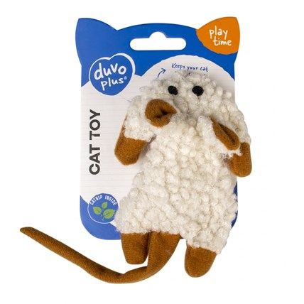 Kattleksak Cushy Crackle Mouse Brun/Vit