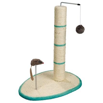 Klöspelare Sisal på Platta 50 cm, Mörkgrön