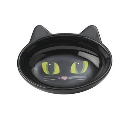 Keramikskål Frisky Kitty Black