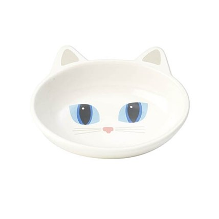 Keramikskål Frisky Kitty White