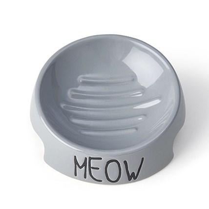 Keramik skål Meow Inverted Grå