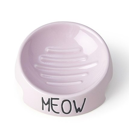 Keramik skål Meow Inverted Rosa