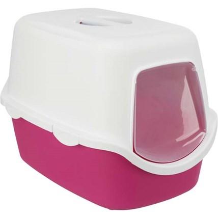 Kattlåda Vico rosa/vit