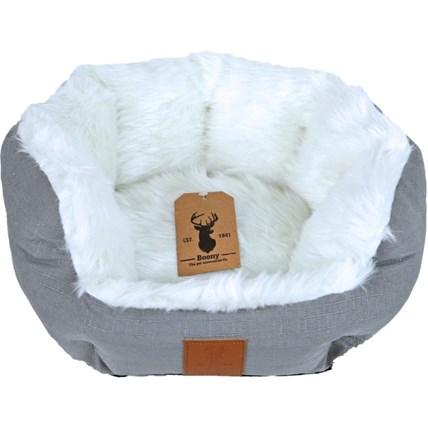Kattbädd Boony Polar Grå/vit