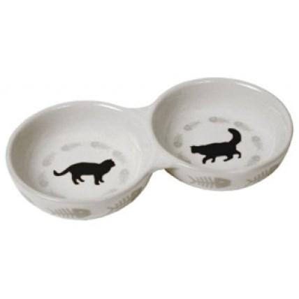 Katt matbar keramik 22 cm