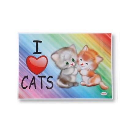 Matskåls underlägg katt Regnbåge