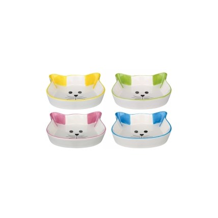 Keramikskål katt 24494, Blå